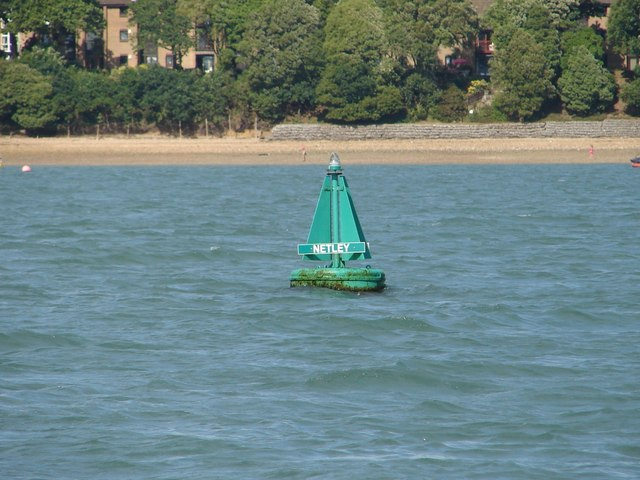 Netley Starboard Channel Buoy and foreshore