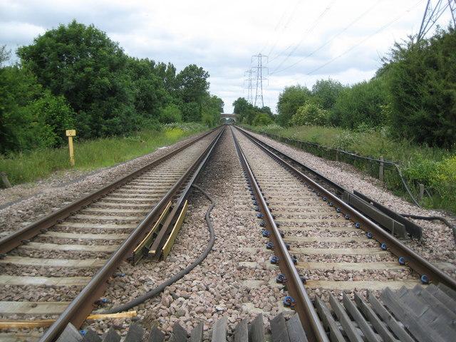 Staines Moor: Railway line to Windsor