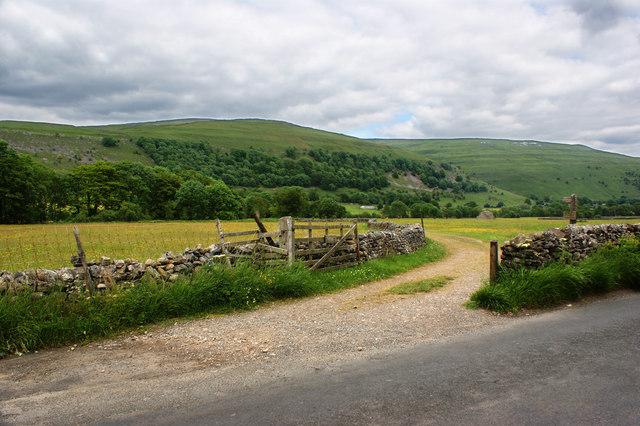 The Dales Way finally leaves the road it has followed since Hubberholme