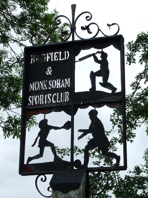 Bradfield And Monk Soham Sports Club Sign