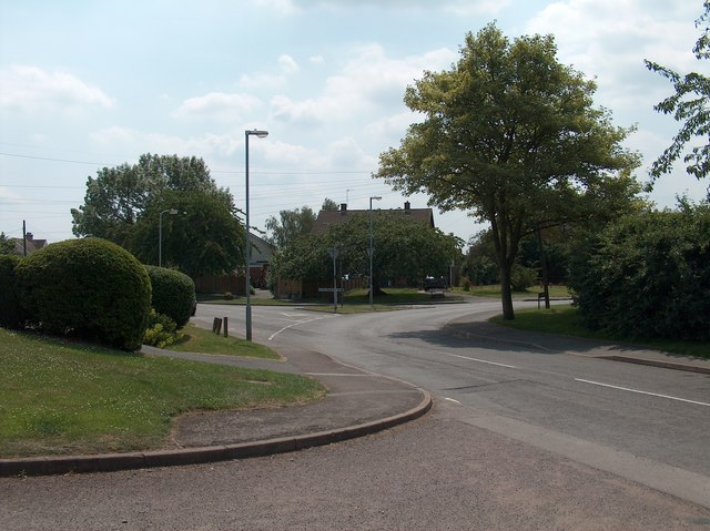 Road junction in Warton