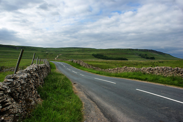 The road over Buckden Causeway Moss