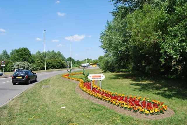 Flowerbed on the Delme Roundabout