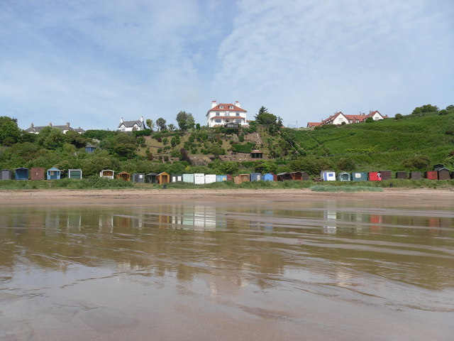 St Abb's Haven Hotel from Coldingham Sands