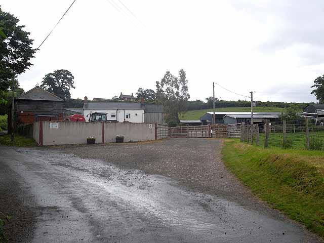 Farmyard at Pant-y-Llwyn