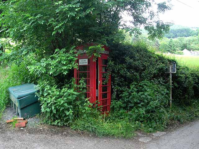 Telephone box at City