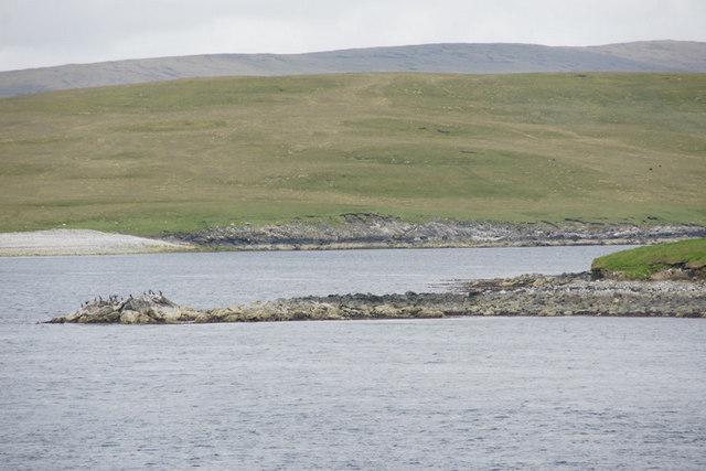 Rocky headland on Orfasay