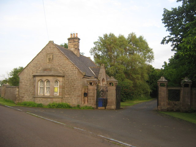 Lodge at entrance to Cheswick Hall