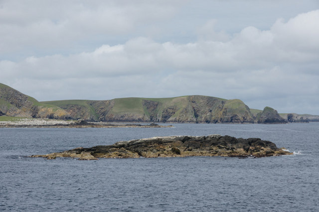 Muckle Skerry of Neapaback, off Burravoe