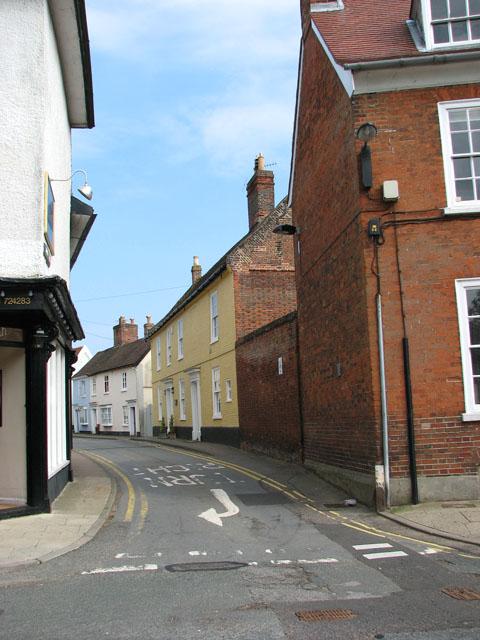 Castle Street meets Church Street, Framlingham