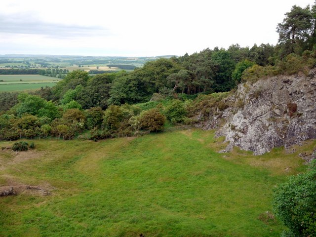 Flodden Quarry, above the cliff face