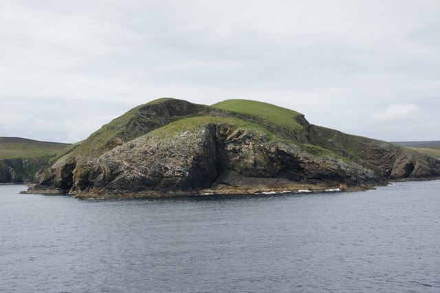 Stack of the Horse at the end of Horse of Burravoe