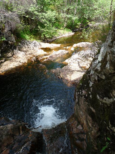 The Allt Ladaidh, Glengarry Forest