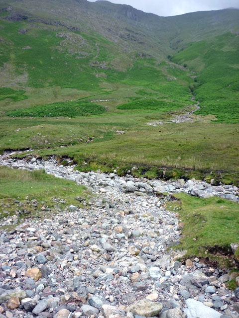 The confluence of Troughton and Mickleden Becks
