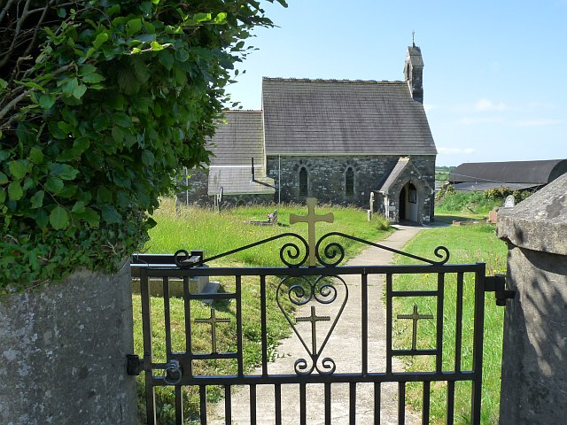 Gate and path to St Peter's Church