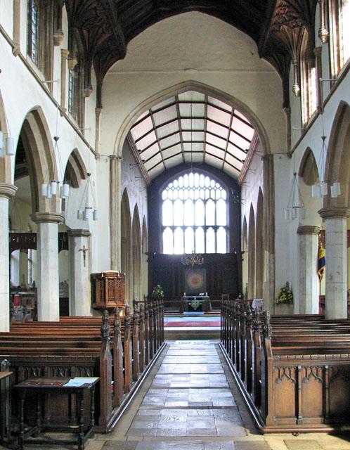 St Michael's church in Framlingham - view east