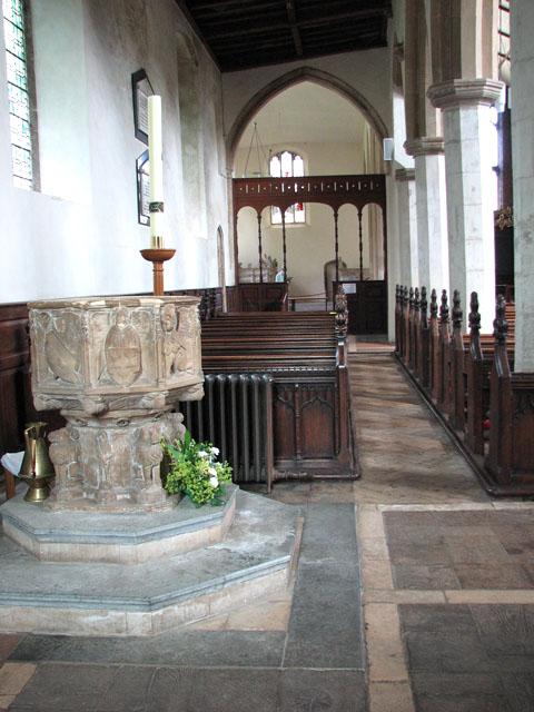St Michael's church in Framlingham - north aisle