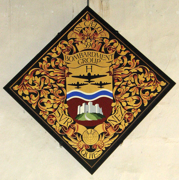 St Michael's church in Framlingham - modern hatchment