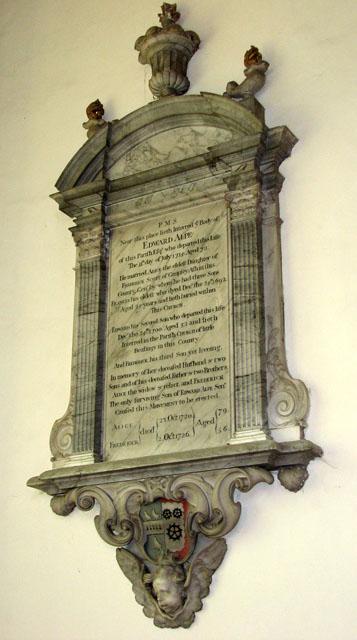 St Michael's church in Framlingham - C18 wall tablet