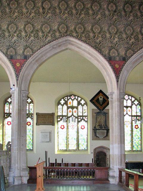 St Michael's church in Framlingham - chancel arcading