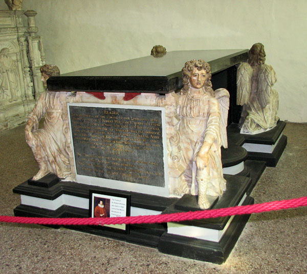 St Michael's church in Framlingham - Hitcham tomb