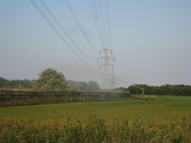 Irrigation of turf field