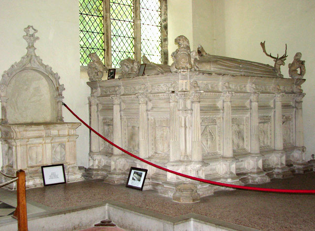 St Michael's church in Framlingham - one of the tombs