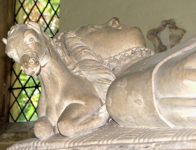 St Michael's church in Framlingham - tomb (detail)