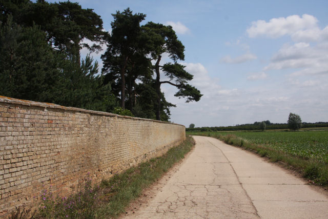 Boundary wall and track