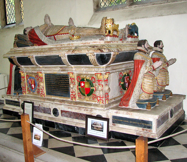 St Michael's church in Framlingham - the Surrey tomb