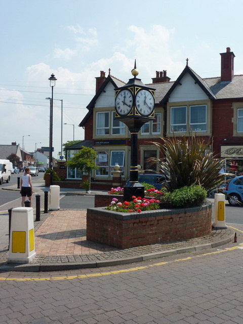 Clock, Barton Square, Knott End-on-Sea