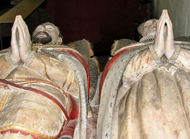 St Michael's church in Framlingham - the Surrey tomb (detail)