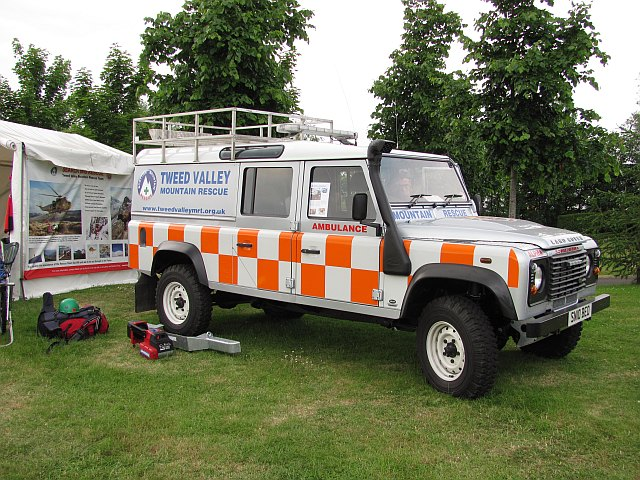 Tweed Valley Mountain Rescue's new Landrover