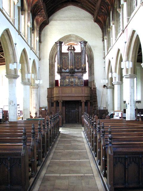 St Michael's church in Framlingham - the Thamar organ