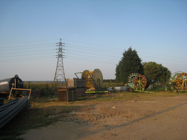 Irrigation equipment awaiting use