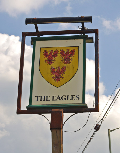 The Eagles (pub sign), Harley Road