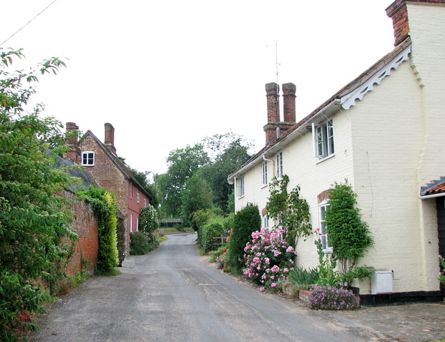 Cottages in Church Lane, Ufford