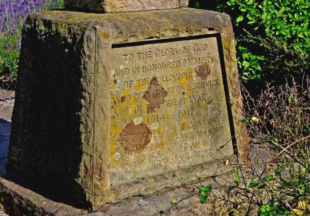War Memorial - dedication