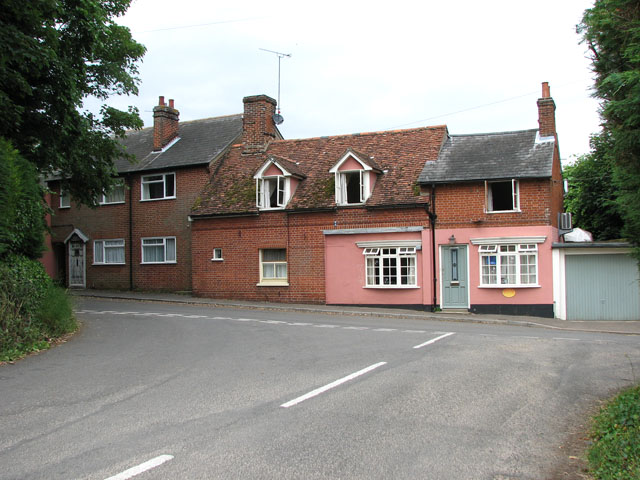 Junction of Lower Road and Lower Street, Ufford