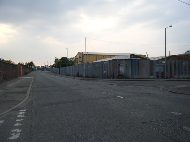 Gorton Road with Tuley Street on the right