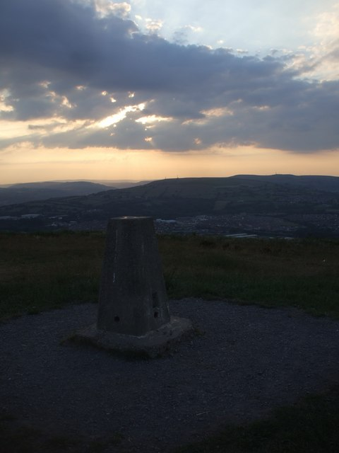 Trig point, Caerphilly Common