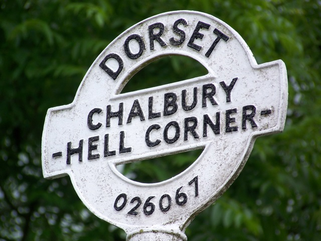 Sign detail, Hell Corner