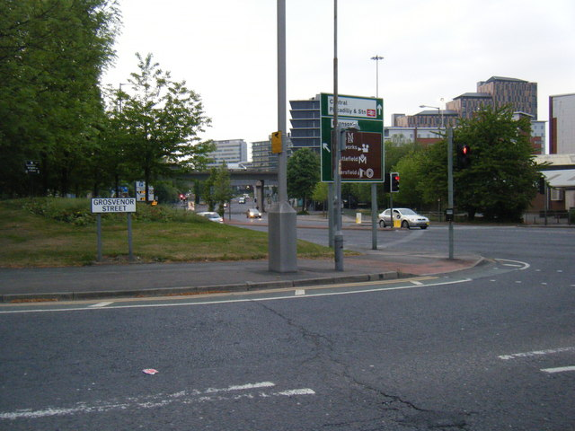 Grosvenor Street and London Road beyond