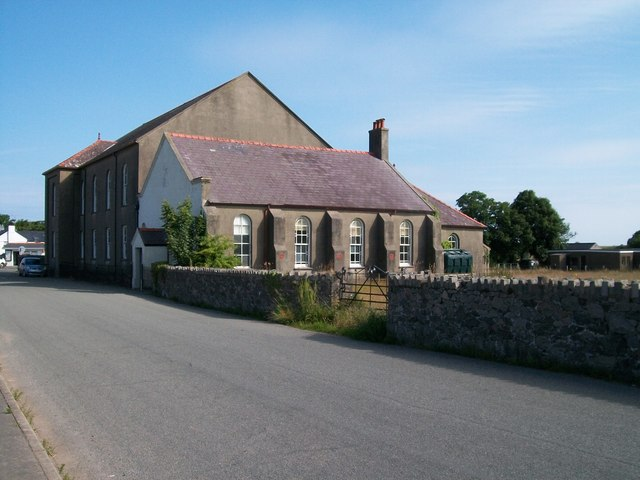 The vestry at the rear of Capel Edern