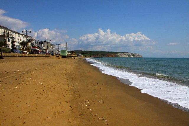 The beach at Sandown