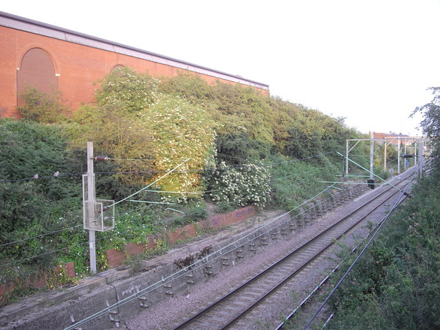 Railway line looking toward Hythe Station, Colchester