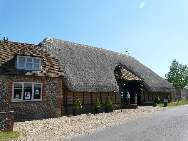 A thatched barn, Goring Heath
