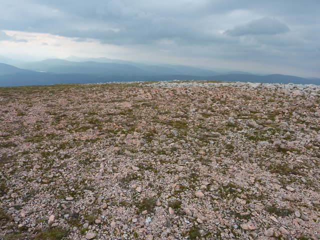 Red stones on Meall a Choire Ghlais