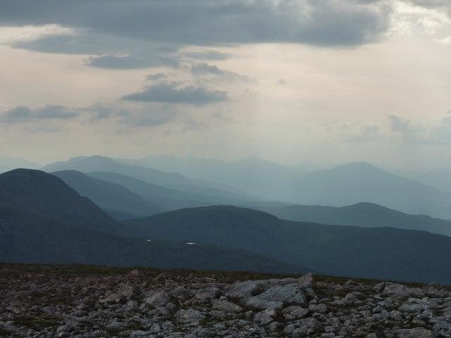 Meall a Choire Ghlais summit plateau