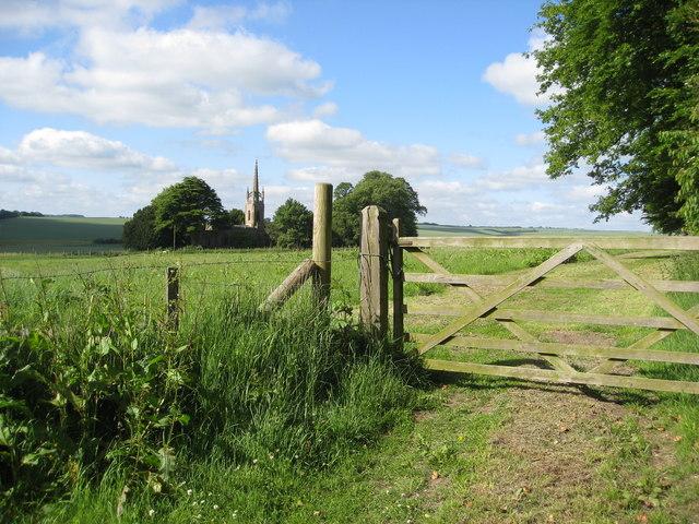 View towards All Saints' Church at Haugham